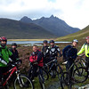 Team Photo Call with Skye's highest peak in the background.