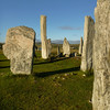 Calanais Standing Stones in the evening light
