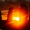 D6. The amazing sunrise at Callanais Stone Circle.