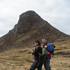 Jules & Jay approach Stac Pollaidh - still smiling !