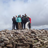 The team on MacDui summit ...Is that snow I see!!