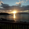 A bonny view while relaxing over dinner. Sunset from Doune, Knoydart.